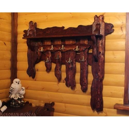 Вешалки для бани из дерева своими руками